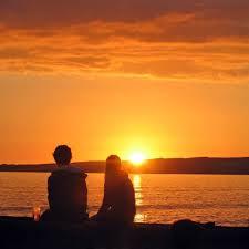 couple watching sun